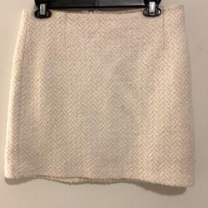 BananaRepublic|Wool Blend Herringbone A-line skirt